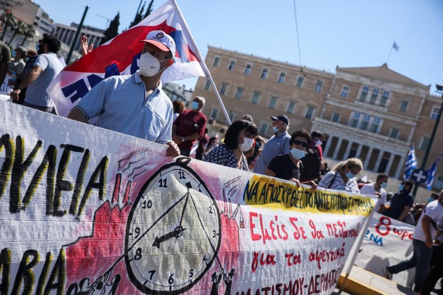 Απεργία για το τέλος στο 8ωρο και τις απλήρωτες υπερωρίες - Εικόνες