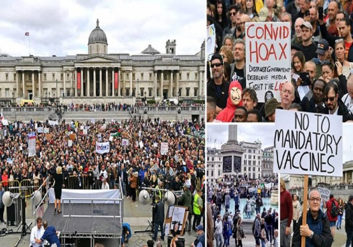 Κορονοϊός: Μαζικές διαδηλώσεις σε Λονδίνο, Βερολίνο και Παρίσι κατά των μέτρων προστασίας
