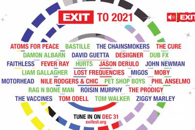 EXIT TO 2021: Παραμονή Πρωτοχρονιάς με Cure, Prodigy, David Guetta, Moby, Faithless, Pet Shop Boys κ.ά.
