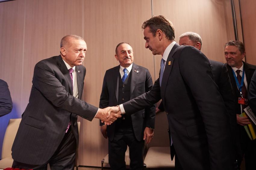 Τετ α τετ Ερντογάν - Μητσοτάκη: Παράδοση στις κατ' ιδίαν συναντήσεις