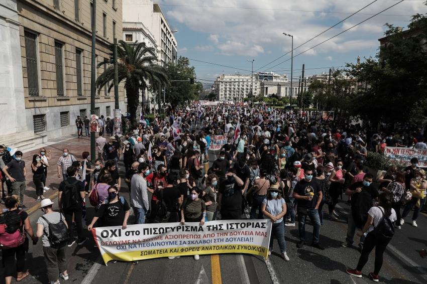 Απεργία: Χιλιάδες στον δρόμο για εργασιακά και 8ωρο - Οι κινητοποιήσεις σε εικόνες